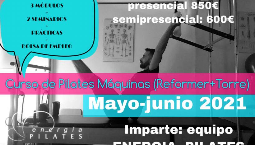 CURSO DE PILATES MÁQUINA ( REFORMER+ TORRE )